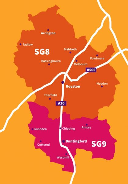 Home-start Royston and South Cambridgeshire map